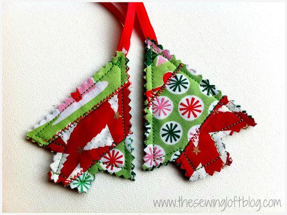 Adornos patchwork árbol de Navidad