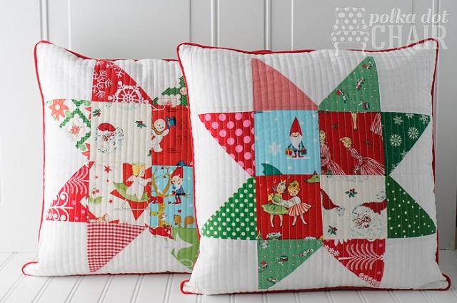Cojines patchwork Navidad