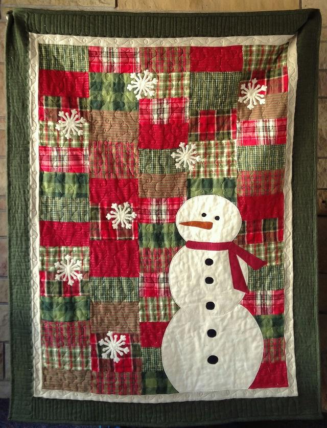 Colcha patchwork Navidad