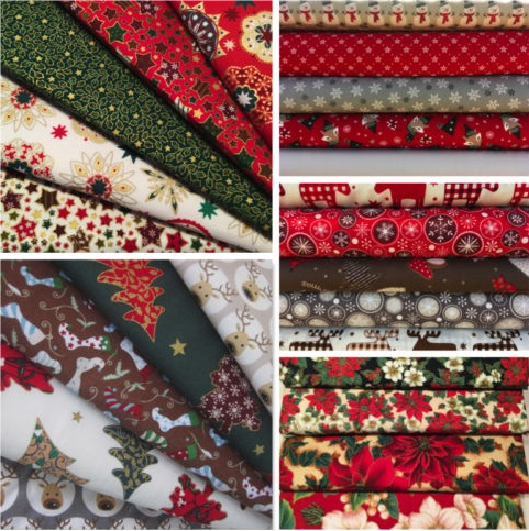Telas patchwork Navidad