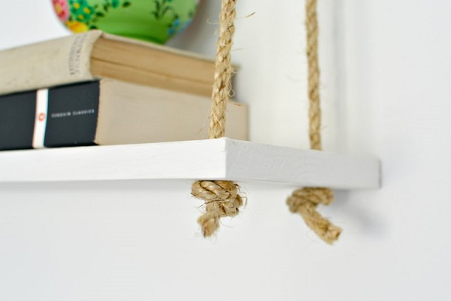Estantería cuerda DIY 3