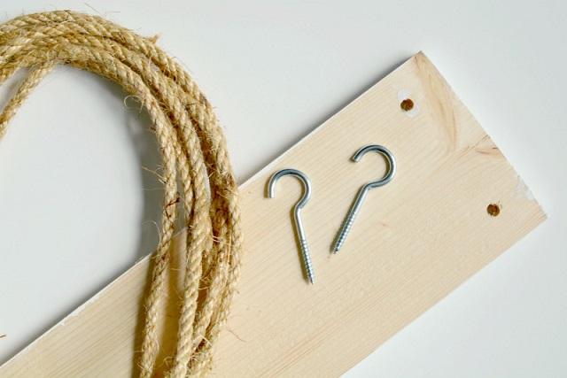 Estantería cuerda DIY materiales