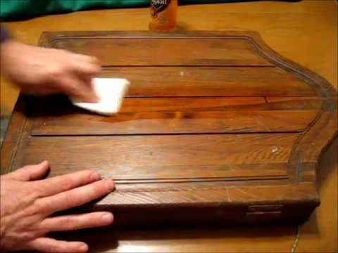 Cómo restaurar mueble antiguo, limpiar