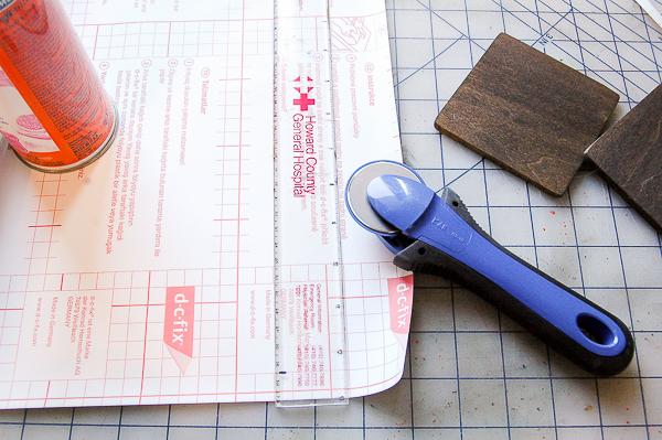 Posavasos DIY madera y falso mármol paso 3