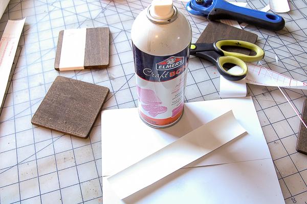 Posavasos DIY madera y falso mármol paso 4