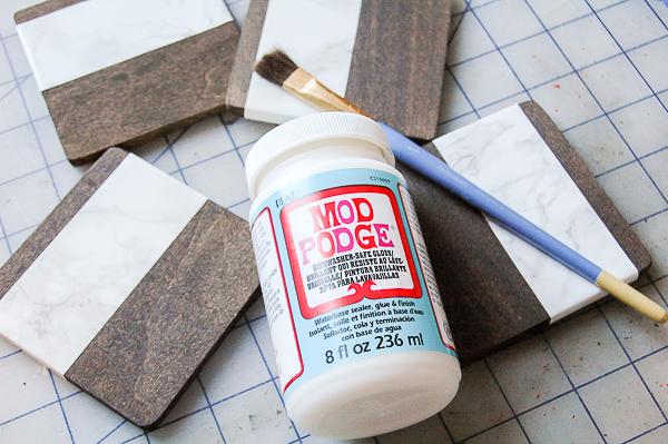 Posavasos DIY madera y falso mármol paso 6