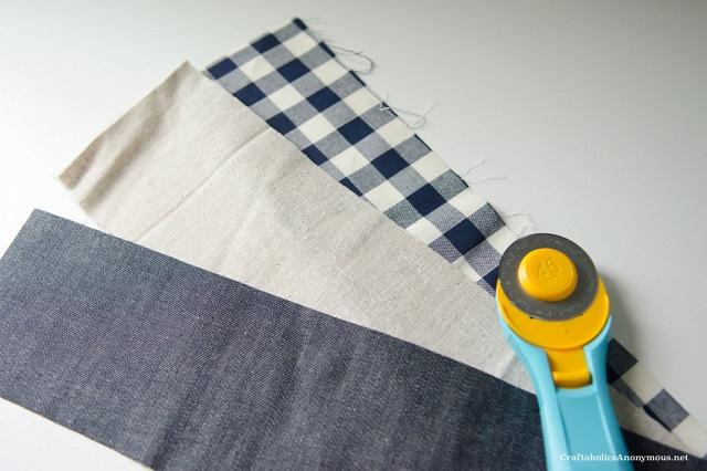 Tutorial coletero de tela DIY, paso 1