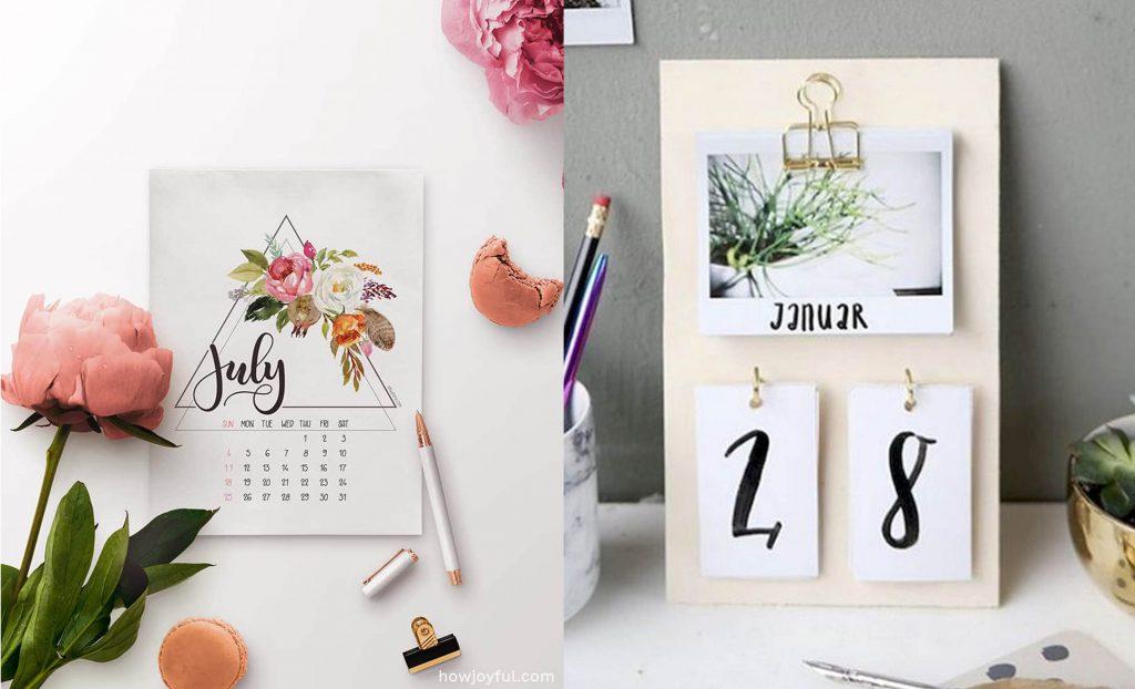 Calendario personalizado a mano